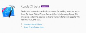 Download XCode 7.1 Beta