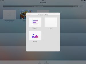 iPad Create a new Playground