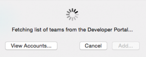Select team from Apple Developer Portal