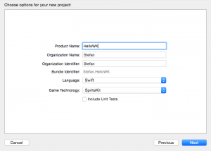 Create tvOS project